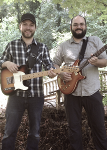 A picture of Seth Watters and Mark Gallegos, who teach guitar lessons in Dunwoody, GA.